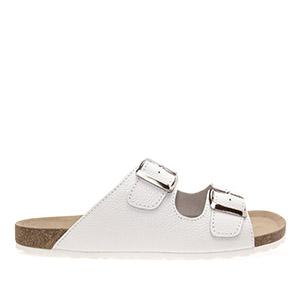 Muške kožne sandale sa dva kaiša, bele