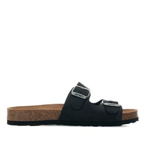 Sandalias en piel Nobuck de color Negro