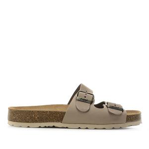 Sandalen aus braunem Nubuckleder - Made in Spain