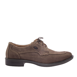 Mens Chocolate Brown Leather Derby Shoes