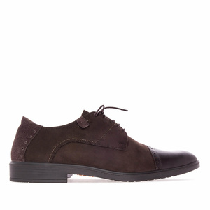 British style Shoes in Brown Nubuck
