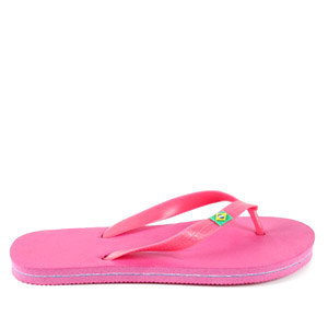 Beach Flip Flops in colour Fuchsia.