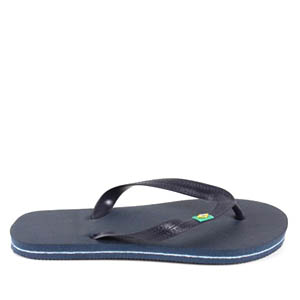 Beach Flip Flops in colour Navy Blue.
