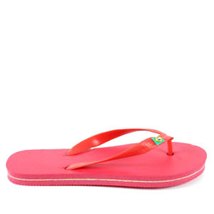 Tongs de Plage Rouge.