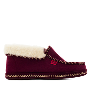 Bourdeaux red Ankle High Slippers
