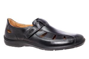 Muške kožne cipele sa otvorima, crne