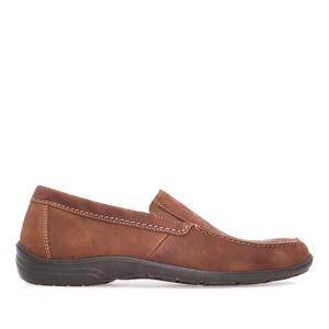 Cipele od prevrnute kože, smeđe