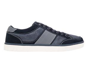 Chaussures Sportives en Cuir et en Daim Bleu