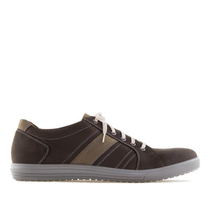 Men's trainers in Brown Leather