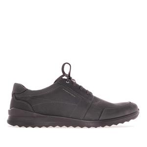Vycházková kožená obuv, barva antracitová
