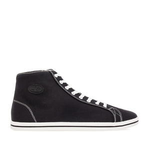 Black Canvas Sports Ankle Boots
