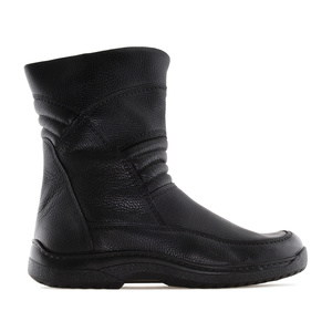 Men's Biker style Boots in Black Leather