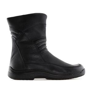 Botines de Hombre en Piel de color Negro estilo Motero.