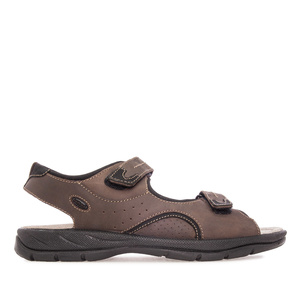 Mens Sandals in Brown Leather