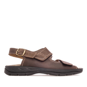 Mens Brown Leather Sandals