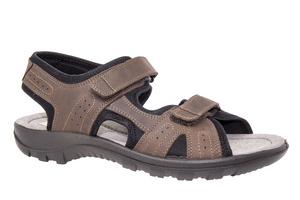 Kožne sandale sa čičak trakom, braon