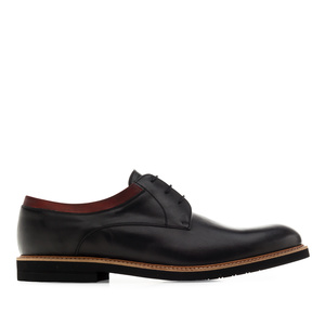 Men's Bluchers in Black Leather