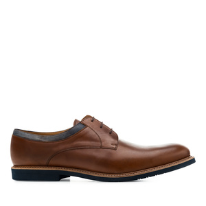Men's Bluchers in Brown Leather