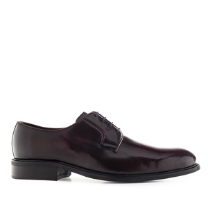 Antik Burgundy Leather Lace-Up Shoes