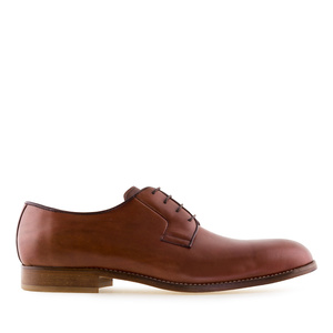 Men's Lace-Up Shoes in Mahogany Leather