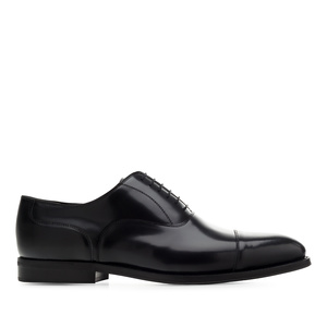 Herrenschuhe im Oxfordstil aus Leder in Antik Schwarz - MADE IN SPAIN -
