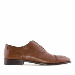 Zapatos estilo Oxford en Piel color Cuero