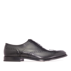 Mens Oxford shoes in Black Leather