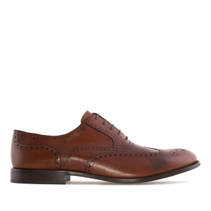 Men's Oxford Shoes in Mahogany coloured Leather