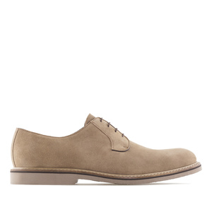 Oxfordschuhe aus sandfarbenem Rauleder - MADE in SPAIN -