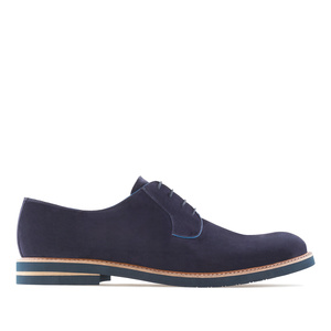 Oxfordschuhe aus blauem Rauleder - MADE in SPAIN -
