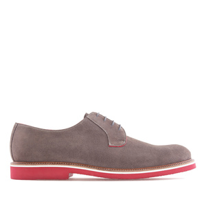 Modern Men's Shoes in Grey Split Leather