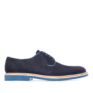 Zapatos oxford serraje marino