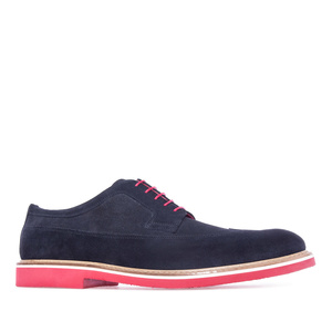 Cipele na pertlanje u oxford stilu, teget