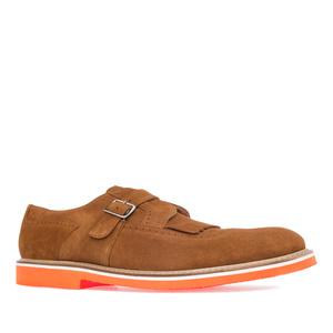 Męskie Skórzane buty w Stylu Oxfor Camel
