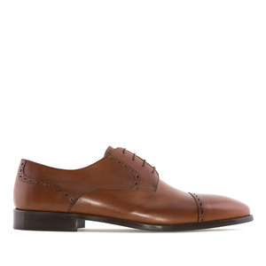Men's Brogues in Mahogany coloured Leather