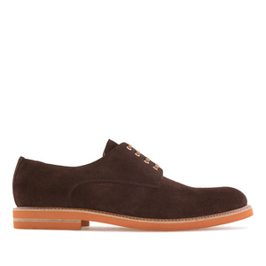 Oxford Shoes in Brown Split Leather