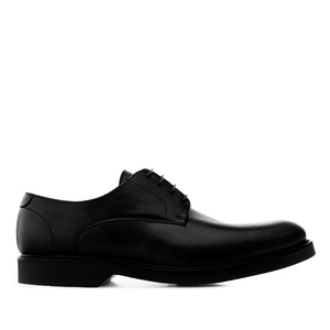 Chaussures style Oxford en cuir de couleur Noir