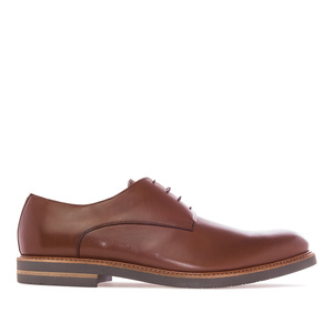 Men's Shoes in Brown Leather
