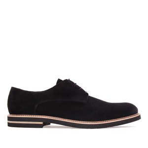 Oxford shoes in Black Split Leather