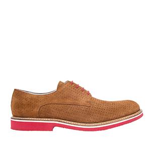 Oxford shoes in Camel genuine Split skin
