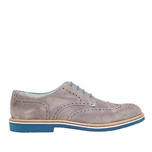 Oxford shoes in Grey genuine split skin