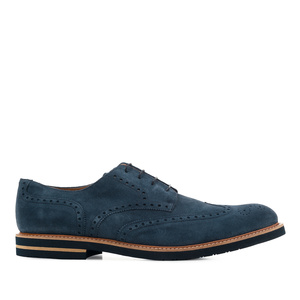 Schuhe im Oxford-Stil Rauleder Dunkelblau - MADE IN SPAIN -