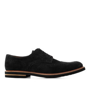 Schuhe im Oxford-Stil Rauleder Schwarz - MADE IN SPAIN -