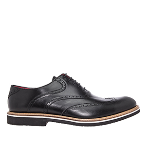 Oxford shoes in Black genuine Leather