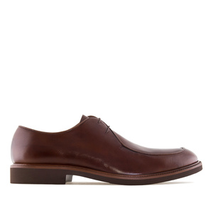 Men's Brown Leather Lace-Up Shoes