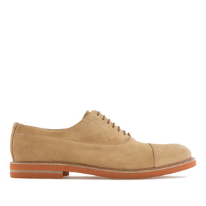 Oxford Shoes in Sand Brown Split Leather