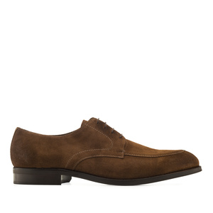 Men's Bluchers in Brush Off Oak Brown Split Leather