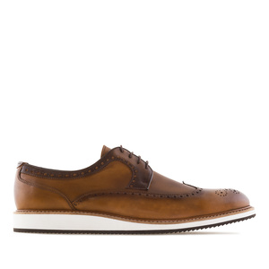 Men's Oxford Shoes in Leather coloured Leather