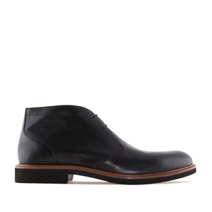 Men's Ankle Boots in Black Leather