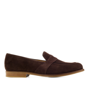 Brown Split Leather Moccasins